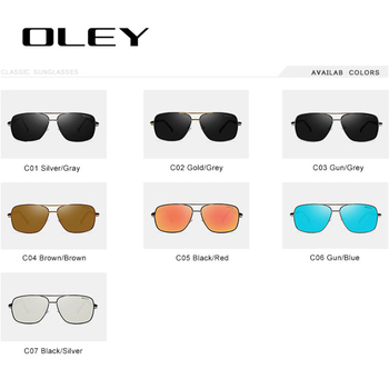 OLEY Brand Polarized Sunglasses Men New Fashion Eyes Protect Sun Glasses With Accessories Unisex driving goggles oculos de sol 8