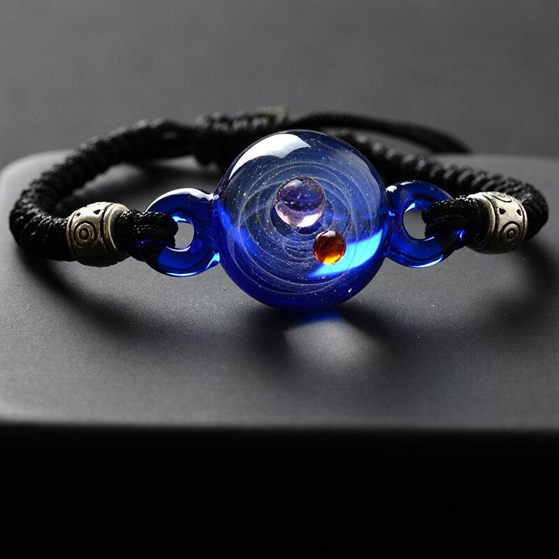 BOEYCJR, горячая Распродажа, Вселенная, планеты, стеклянные браслеты из бисера и браслеты, модные ювелирные изделия, галактика, солнечная система, браслет для женщин, Рождество - Окраска металла: 3