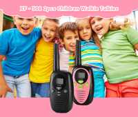 2pcs XF-508 Children Walkie Talkies LCD Display 2-way Radio 22 Channels 3KM Range Belt Clip Electrical Safety Outdoor Toys