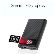 Kebidumei 5V çift USB 4X 18650 taşınabilir güç kaynağı kılıfı kiti ile dijital ekran cep telefonu şarj DIY Shell akıllı telefonlar için
