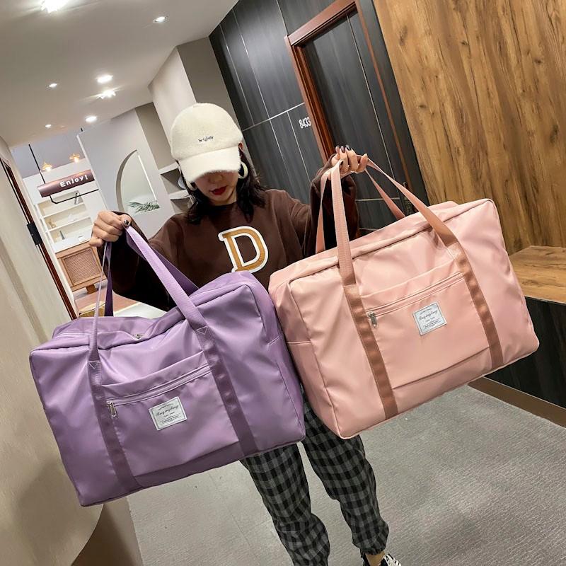 Large Capacity Travel Bag Nylon Waterproof Fitness Clothing Shoulder Bag For Women Yoga Training Sport Bags Daily Handbag 2021