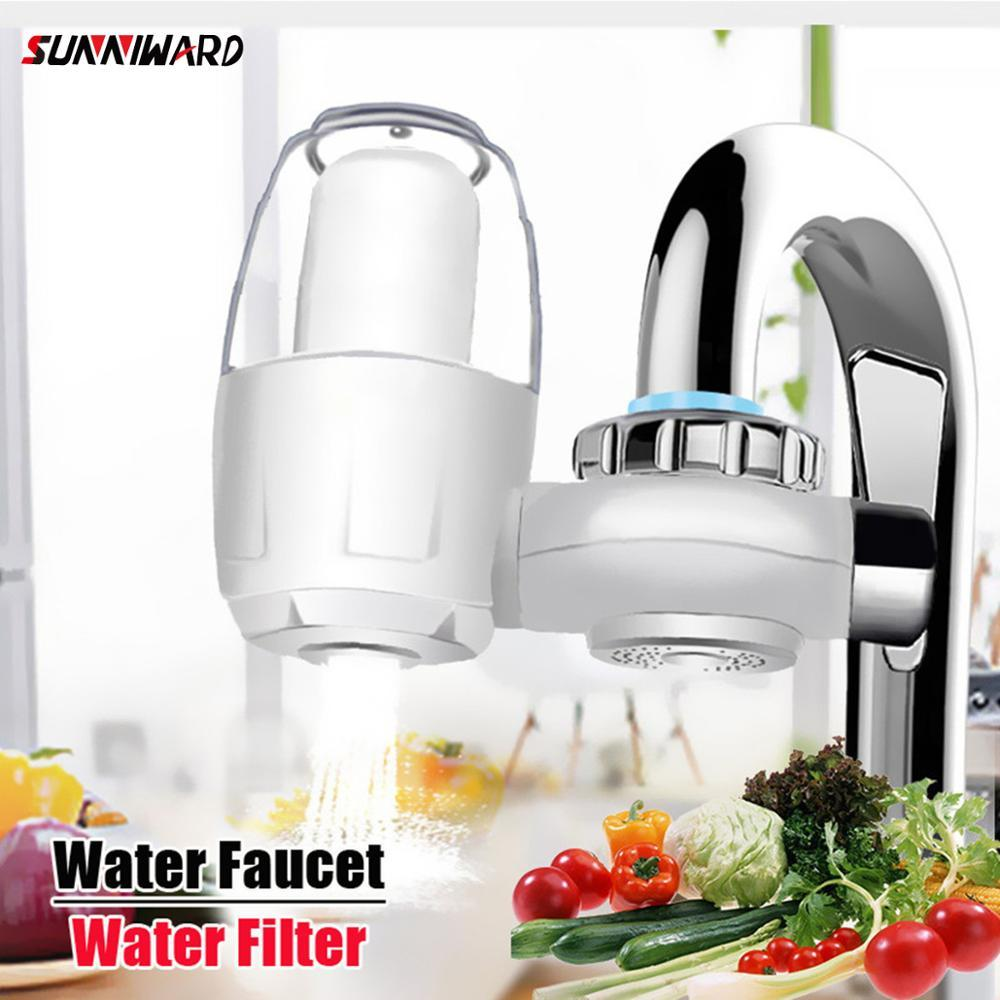 Kitchen Water Faucets Filter Washable Ceramic Faucets Mount Tap Water Purifier Filtro Rust Bacteria Removal W/replacement Filter