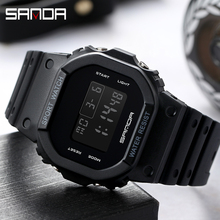 G Style Digital Watches Men Woman Military LED Digital Watch Dive 50M Fashion Outdoor Sport Wristwatches clock relogio masculino cheap SANDA NONE Resin CN(Origin) 22cm 3Bar Buckle Square 25 7mm 12 3mm Acrylic Stop Watch Back Light Shock Resistant LED Display