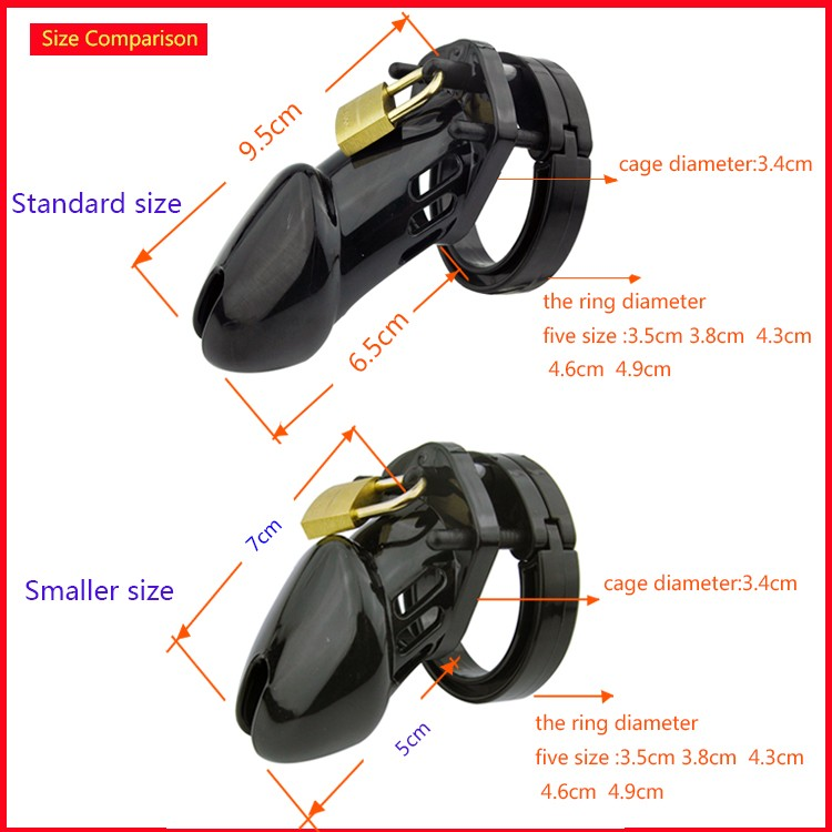Image 5 - CB6000S/CB 6000 Rooster Cage Male Chastity Device with 5 Size Ring Penis Lock Male Chastity Belt Adult Game Sex Toys    -