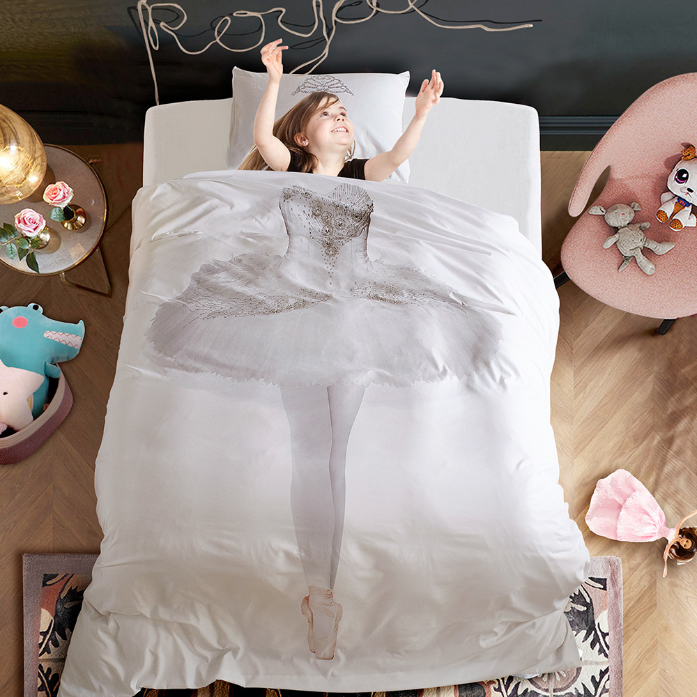 Ballet Quilt Cover Three-piece Home Textile Set Single Double Students Dormitory Bedding Article