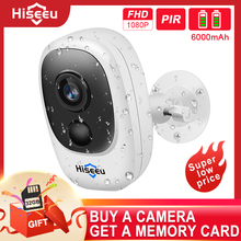 Hiseeu 1080P Wireless Rechargeable Battery IP Camera with Solar Outdoor Weatherproof Home Security Camera Wifi Baby Monitor PIR