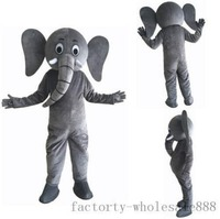 Advertising Elephant Mascot Costume Suit Outfits Adults Halloween Dress Size Hot Interesting Funny Cartoon Character Clothing