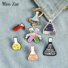Magic or Science Enamel Pin Custom Scientist Brooches Bag Clothes Lapel Pin Chemistry Badge Erlenmeyer Flask Jewelry Gift kids