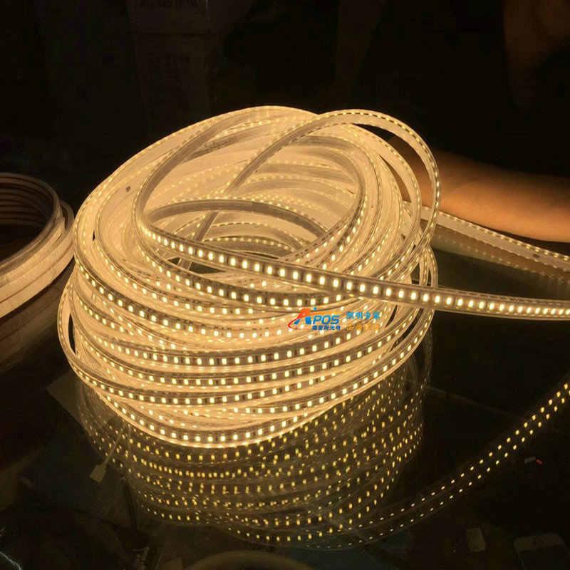 Светодиодная уличная лампа 24 в не-давление падение 2835 120 лампа трубка Водонепроницаемая световая лента 100 м/рулон супер яркий инженерный