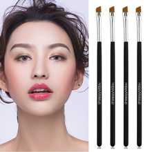 2020 Schuine Wenkbrauw Borstel Zwart Bevel Brush Hoge Kwaliteit Best Selling Wenkbrauw Make-Up Borstel Acryl Rhinestone Eye Brush(China)