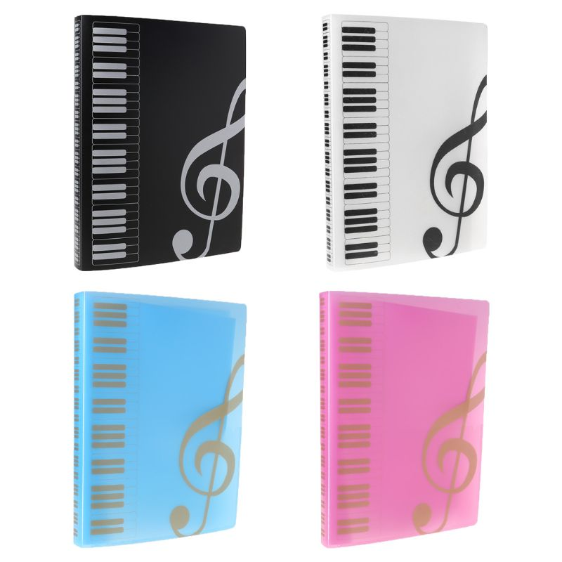 2020 New 40 Pages A4 Size Piano Music Score Sheet Document File Folder Storage Organizer