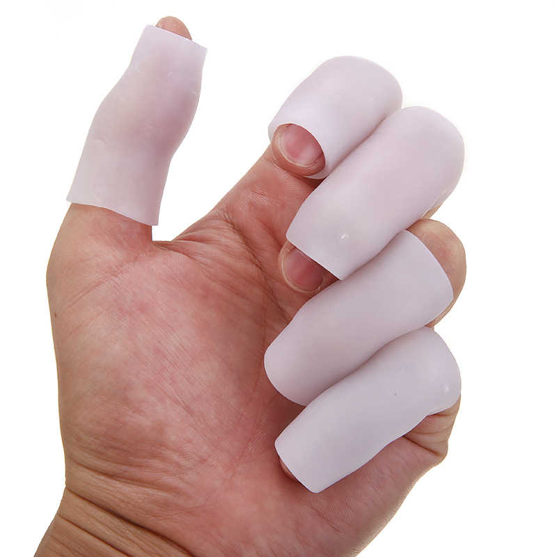 5 accoppiamenti Del Gel Del Silicone Dito Tubo Protector Toe Maniche per Attrito Sollievo Dal Dolore Cura di Piede Strumento Finger Protect