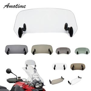 Image 1 - Motorcycle Risen Adjustable Wind Screen Windshield Spoiler Air Deflector for Honda BMW KAWASAKI YAMAHA HONDA SUZUKI DUCATI