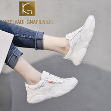 KATELVADI Platform Shoes Woman Big Size Sneakers Lace Up Breathable Vulcanized Shoes Air Mesh Sneakers CH015(China)