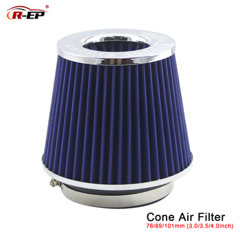 REP Racing Car AIR FILTER 3'' 3.5'' 4'' Universal Cold Air Hood Intake Kit 76 90 101mm Coches filtro de ar for Intake Hose universal flexible cold air intake kit black red