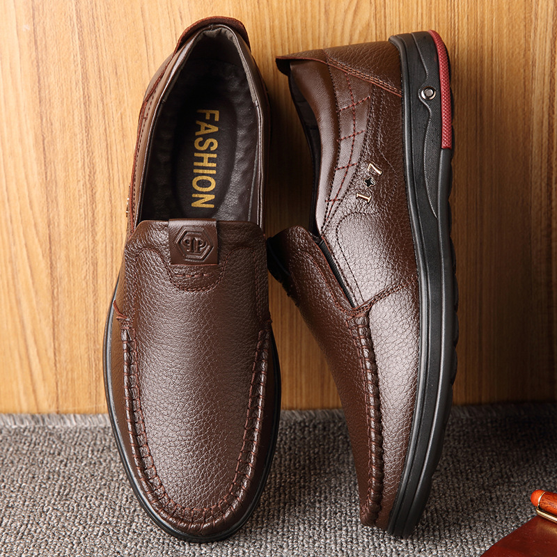 Casual Leather Shoes Men Size 38-47 Fashion Male Footwear Slip On Shoes For Men Loafers Shoes Men's Moccasins Comfort