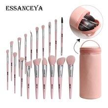 ESSANCEYA 6-18Pcs Professional Make Up Brushes Set Blush Powder Foundation Concealer Eye Brush High