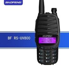 Walkie talkie baofeng RS UV800 rádio em dois sentidos 8w de banda dupla uhf & vhf rádio portátil UV 82 mais transceptor rádio ham