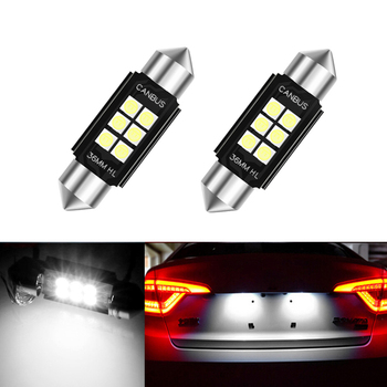 2x LED 36mm White CANbus C5W Bulbs 3030SMD Interior Lights License Plate Light For BMW E46 E90 E92 E39 E53 E60 E71 Mini Cooper image