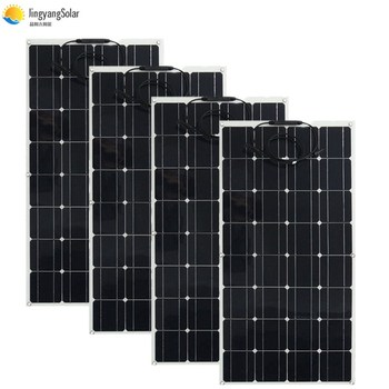 400W solar panel equal 4pcs 100w solar panel Mono solar cell 100W solar panel 12v solar charger for RV home boat 200w 300w 1