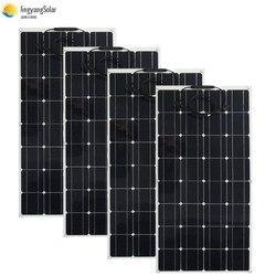 400 واط لوحة طاقة شمسية متساوية 4 قطعة 100 واط لوحة طاقة شمسية أحادية الخلايا الشمسية 100 واط لوحة طاقة شمسية 12 فولت شاحن بالطاقة الشمسية ل RV قارب ا...