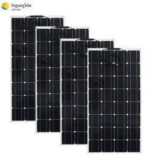 400W 300W 200W Pin Năng Lượng Mặt Trời 100W Thú Cưng Tấm Pin Mặt Trời Linh Hoạt Đơn Năng Lượng Mặt Trời Tế Bào Năng Lượng Mặt Trời 12V pin Sạc Chống Thấm Nước Cho Nhà Mái Thuyền