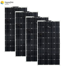 400W Solar Panel Equal 4pcs 100w Solar Panel Mono Solar Cell 100W Solar Panel 12v Solar Charger For RV Home Roof Boat 200w 300w