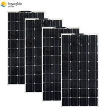 400W panel słoneczny równy 4 szt 100w panel słoneczny Mono ogniwo słoneczne 100W panel słoneczny 12v ładowarka solarna do łodzi domowej RV 200w 300w tanie tanio ALLPOWERS 1050mm*540mm*2 5mm bps 32-100 Monokryształów krzemu SOLAR PANEL 12V MONO SLAR CELL