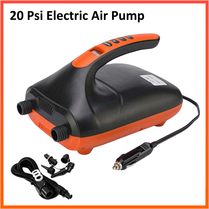 Max 20PSI Inflatable Electric Air Pump High Speed Dual Stage For Outdoor Paddle Board Airbed SUP Paddleboard Inflatable Parts