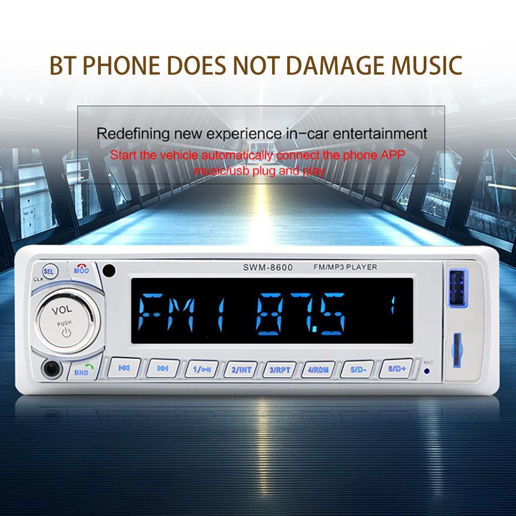 Radios-Player Remote-Control Car-Radio Stereo Bluetooth MP3 12V 1-Din Audio USB/SD