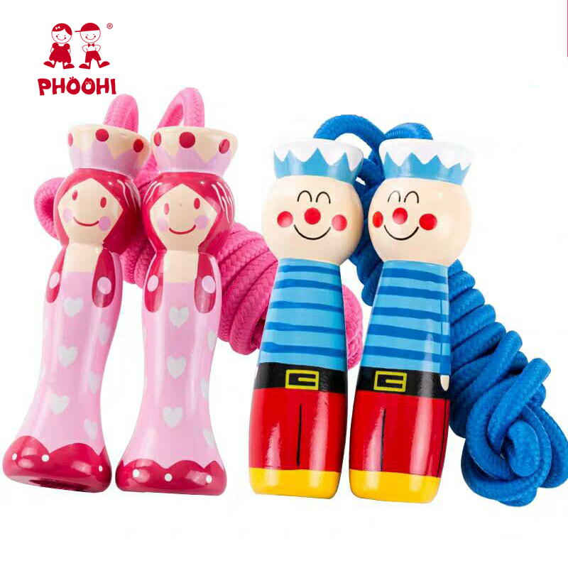 Cartoon Child Wooden Children Exercise Adjustable Handle Seaman Boy Girl Wooden Jump Rope For Kids 3years Toy Sports Aliexpress