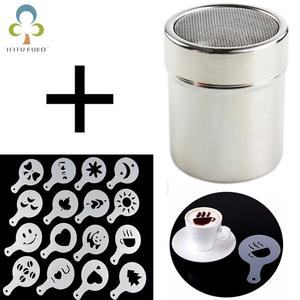 Chocolate Shaker Coffee-Tools Cocoa Flour Flower-Pad Stainless-Steel Strew Spray-Art