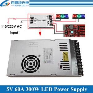 Image 1 - Fuente de alimentación de pantalla LED especial con ventilador ultradelgada entrada 110/220VAC, fuente de alimentación conmutada de salida de 5V 60A 300W