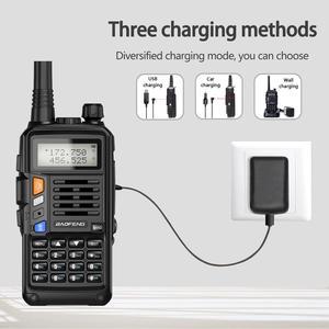 Image 5 - BaoFeng UV S9 плюс Tri Band10W мощный 2xAntenna VHF UHF 136 174 МГц/220 260 МГц/400 520 МГц 10 км дальность Ham Портативный одновременное подключение двух теле