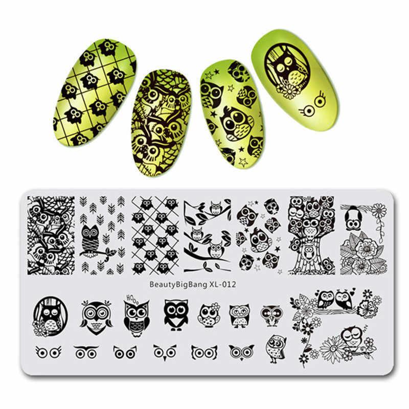 BeautyBigBang шаблон для ногтей пластины из нержавеющей стали Симпатичные кошки и собаки шаблон штамповки ногтей пластины прямоугольная печать для ногтей BBB apo