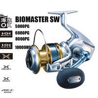SHIMANO Original BIOMASTER SW 5000PG 6000PG 8000PG 10000HG HAGANE GEAR 6+1BB A RC Spool Saltwater Spinning Reel Fishing