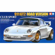 цена на Tamiya 24247 1:24 Scale Porsche 911 Gt2 Sport Car Display Collectible Toy Plastic Assembly Building Model Kit