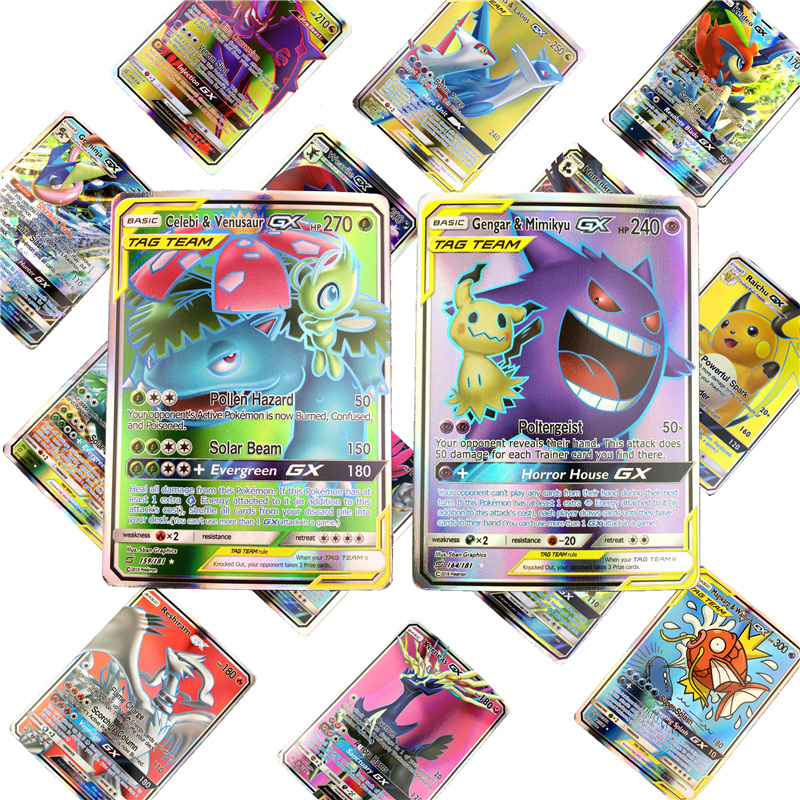 NEW Arrival 10-200pcs Card GX EX Collection Trading Pokemones Cards For Funs Gift Children English Version Toy