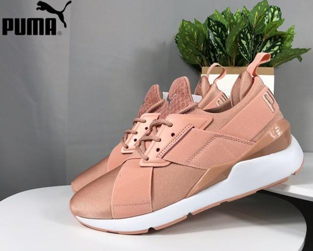 Nueva llegada zapatillas de deporte para mujer de satén EP II de Metal de Muse para mujer 367047 02 zapatillas de Bádminton de tamaño mediano para