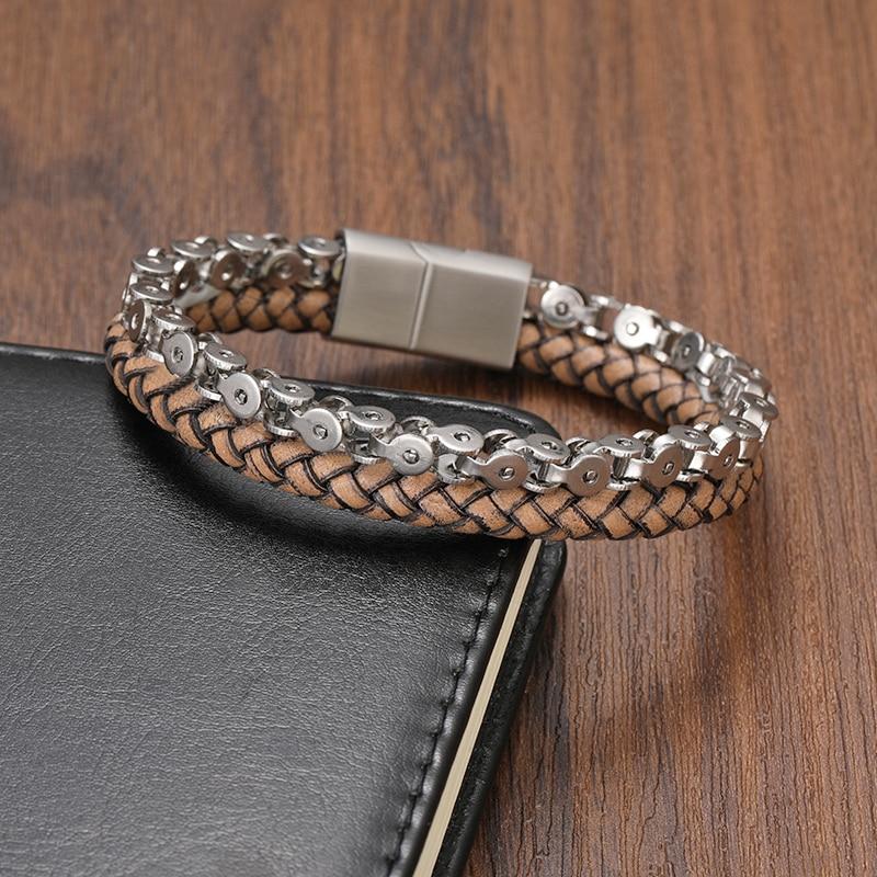 TeHao Boho Jewelry Men Charm Bracelet Set Cuban Link Bracelet Luxury Charkra Bracelet Bangle For Women Stainless Stee Wholesale