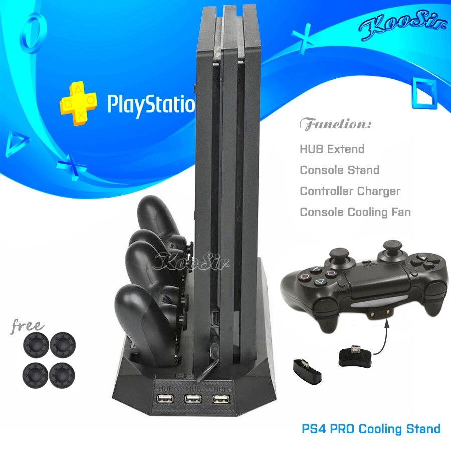 PS4 PRO Console Vertical Stand de Refrigeração PS 4 Dual Controlador de Estação de Carregamento & HUB Porto para Sony PlayStation 3 4 jogos PRO