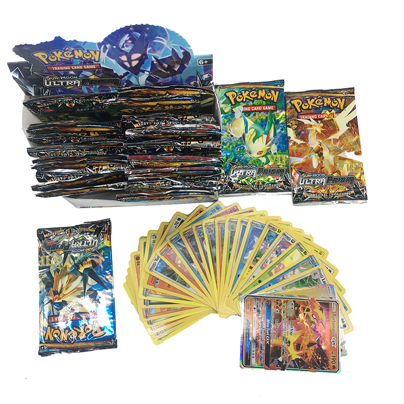 Pokemon 324PCS GX EX MEGA Cover Card 3D Version SUN&MOON ULTRA PRISM Card Collectible Gift Children Toy