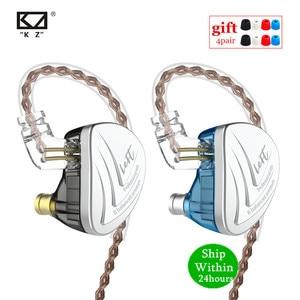Image 1 - KZ AS16 8BA w ucho słuchawka wyważone armatura zestaw słuchawkowy wysokiej dźwięk Monitor jakości słuchawki HiFi KZ AS12 AS10 BA10 AS06 C16 C12
