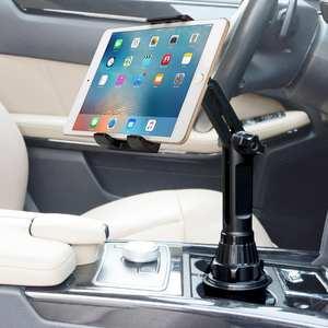 Car-Cup-Holder Cradle Tablet Automobile-Mount Universal iPad Pro Mini Samsung 360
