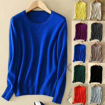 Cashmere Sweater Female Knitted Pullover Women Winter Sweaters Plus Size Cashmere Sweater Women Jumper O Neck Pull Femme 1