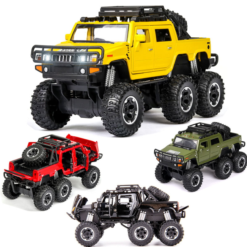 1:32 Free Shipping Pickup Hummer Alloy Car Model Car Model Sound And Light Back Die-casting Toy Car Boy Child Gift Collection