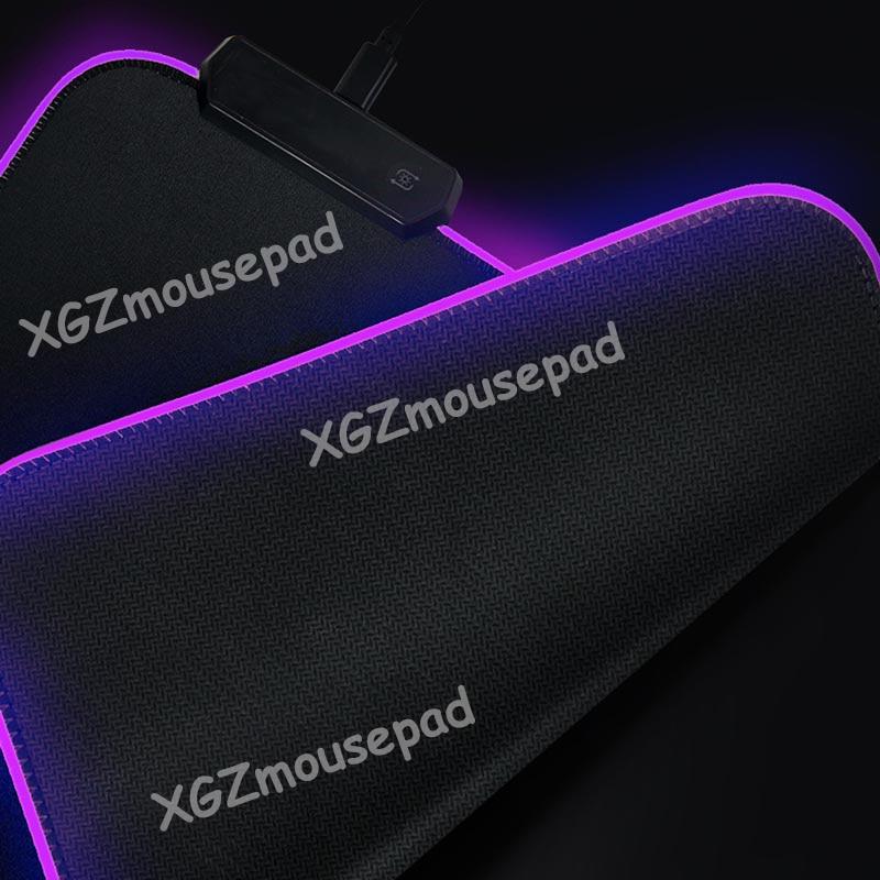 Mairuige  Rem Re Zero Anime Girl RGB Gaming Illumination Mouse Pad Large Computer Mousepad LED Backlight Mause Pad Keyboard Mat 2