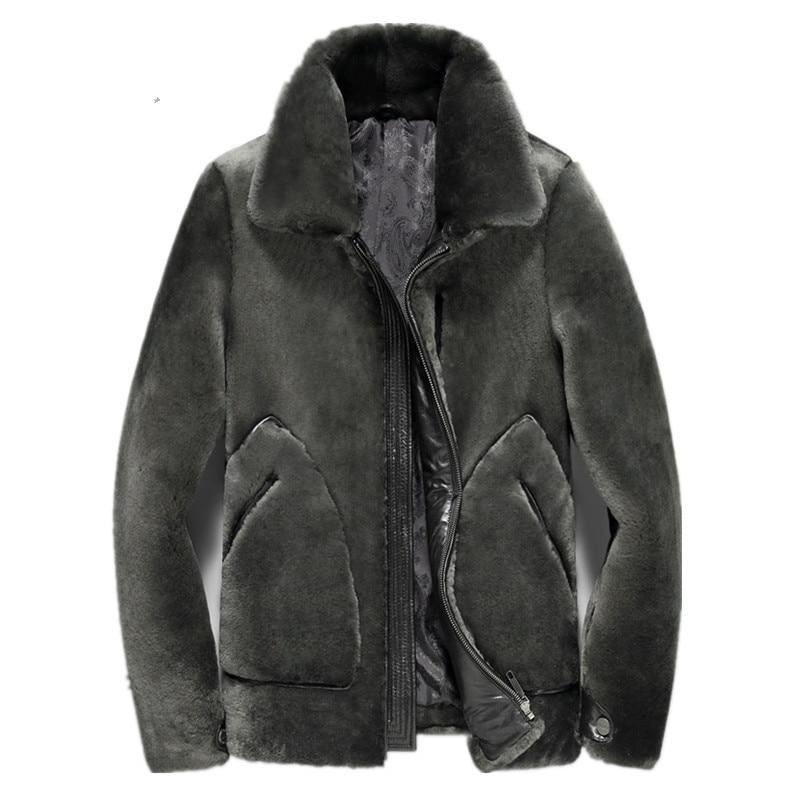 Real Fur Coat Men's Winter Jacket Natural 100% Wool Fur Coat Luxury Mens Jackets And Coats Plus Size 5xl Chaqueta Hombre MY1774