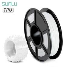 SUNLU مادة مرنة بولي يوريثان ثلاثية الأبعاد خيوط الطابعة 1.75 مللي متر Filamento مادة ثلاثية الأبعاد ثلاثية الأبعاد 0.5 كجم بكرة صلابة 100% لا فقاعة