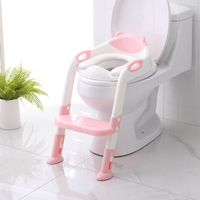 2 Colors Folding Baby Potty Infant Kids Toilet Training Seat with Adjustable Ladder Portable Urinal Potty Training Seats